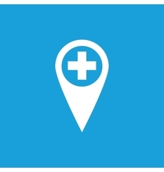 First aid marker icon white vector