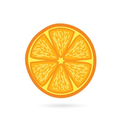 Orange fruit slice vector