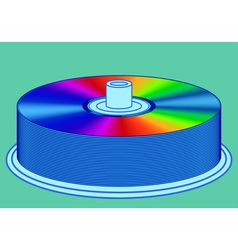 DVD stack vector image