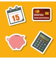 Taxes icon set design vector