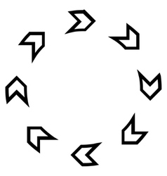 Rotation direction thin line icon vector