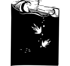Drowning vector image