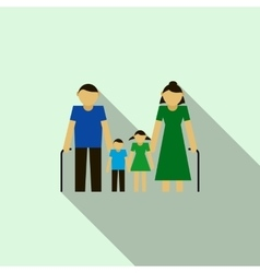 Grandparents with their grandchildren icon vector