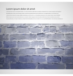 Brick wall brochure vector