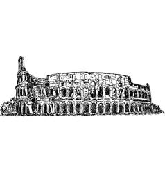 Roman colosseum vector