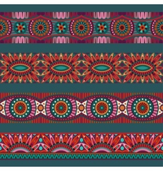 Abstract ornamental ethnic stripes elements vector