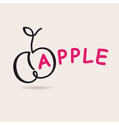 Apple logo logo freehand drawing vector