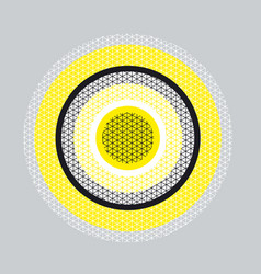 Circle geometry pattern with line mash vector