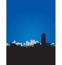 cityscape sky vector image vector image