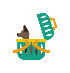 Dog carrier vector