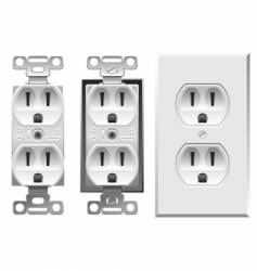 Duplex electrical outlet vector