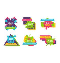 fantastic offer premium goods vector image