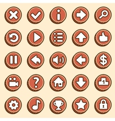 Flat and simple video game buttons vector image vector image