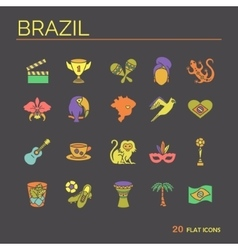 Flat icons brazil 7 vector