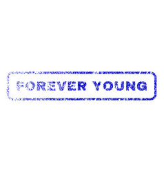 Forever young rubber stamp vector