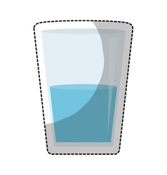 Glass with water icon vector