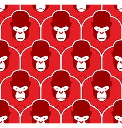 Gorilla seamless pattern Flock of Angry red big vector image vector image