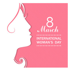 Happy Womens Day celebrations concept vector image vector image