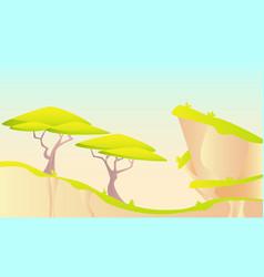 hot african landscape vector image vector image