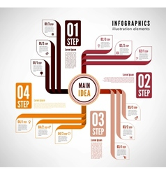 Infographics to describe the process vector image vector image