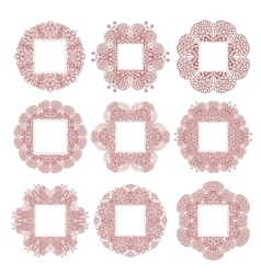 Lace vintage oriental frames vector