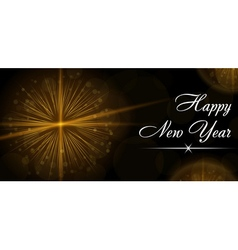 Merry Christmas happy New Year celebration card vector image vector image
