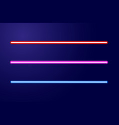 Neon blue red pink glowing lines or light swords vector