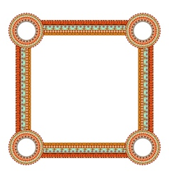 Original Abstract frame in Mexico tribal style vector image vector image