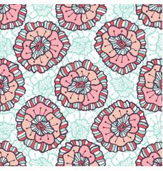 ornamental floral pattern boho background for vector image vector image