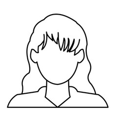 Profile avatar user icon - woman female people vector