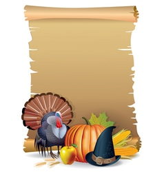 Retro background Thanksgiving turkey vector image vector image