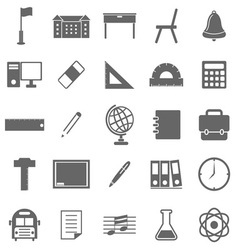 School icons on white background vector image vector image