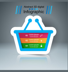 shop infographic marceting icon buy and sell vector image