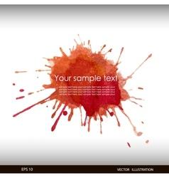 Splash watercolor banner vector image