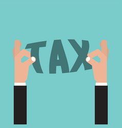 tax in hand tax management concept vector image vector image