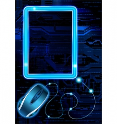 technology theme background vector image vector image