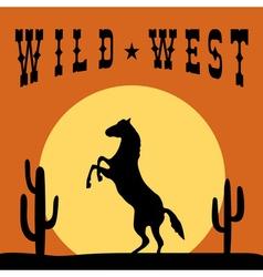 Wild west typography graphics design vector