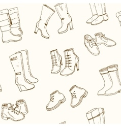 Woman fall and winter shoes vector