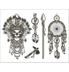 Dead chief designer set vector