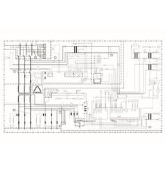schematic diagram power circuit vector image
