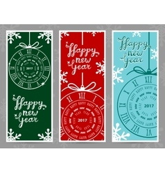 Happy new year 2017 greeting cards vector