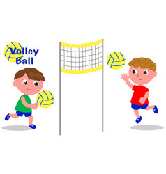 volley ball players vector image