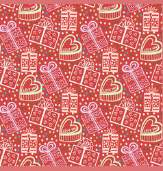 Vintage new year gift paper wrapping seamless vector