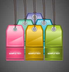 Colourful price tags vector
