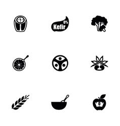 Diet icon set vector