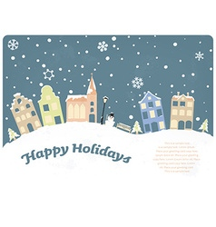 Happy holidays seasonal greeting card vector