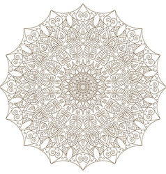 Template with mandala lace ornament vector