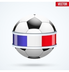 Bright shield in the football ball inside with vector