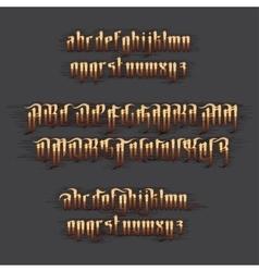 Modern gothic font vector