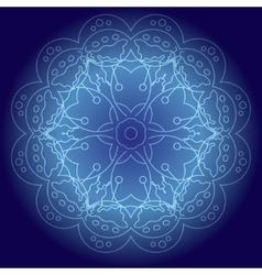 Abstract glowing mandala vector
